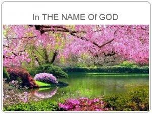 In THE NAME Of GOD Case Presentation Hematuria