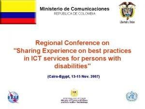 Ministerio de Comunicaciones REPBLICA DE COLOMBIA Repblica de