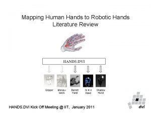 Mapping Human Hands to Robotic Hands Literature Review