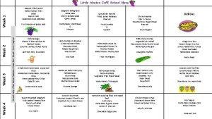 Little Heaton Cof E School Menu Week 4