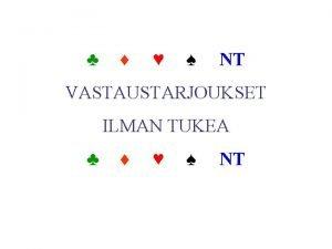 NT VASTAUSTARJOUKSET ILMAN TUKEA NT AVAUS 1 1