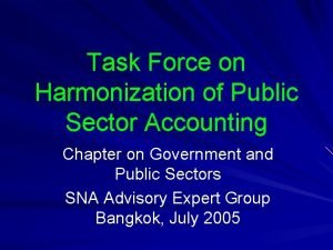 Task Force on Harmonization of Public Sector Accounting