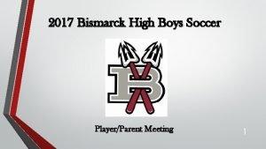 2017 Bismarck High Boys Soccer PlayerParent Meeting 1
