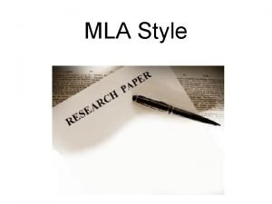 MLA Style What is a citation style When
