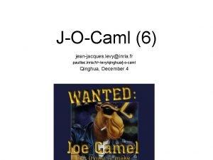 JOCaml 6 jeanjacques levyinria fr pauillac inria frlevyqinghuajocaml