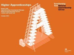 Higher Apprenticeships Negat Lodhi Apprenticeships Development Manager National