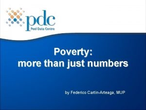 Poverty more than just numbers by Federico CartnArteaga
