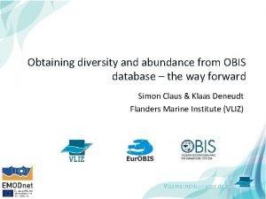 Obtaining diversity and abundance from OBIS database the