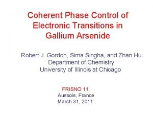 Coherent Phase Control of Electronic Transitions in Gallium
