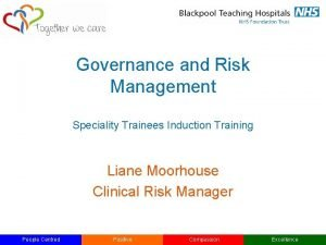 Governance and Risk Management Speciality Trainees Induction Training