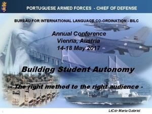 PORTUGUESE ARMED FORCES CHIEF OF DEFENSE BUREAU FOR