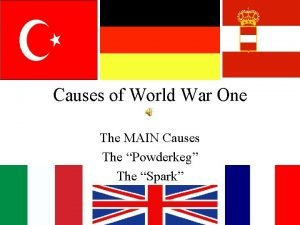 Causes of World War One The MAIN Causes