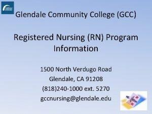 Glendale Community College GCC Registered Nursing RN Program