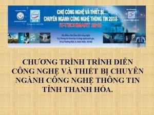 CHNG TRNH DIN CNG NGH V THIT B