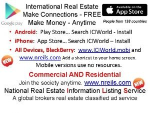 International Real Estate Make Connections FREE Make Money