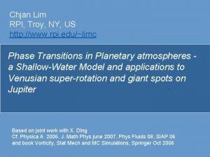 Chjan Lim RPI Troy NY US http www