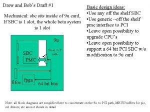 Drew and Bobs Draft 1 Mechanical sbc sits