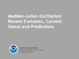 MaddenJulian Oscillation Recent Evolution Current Status and Predictions