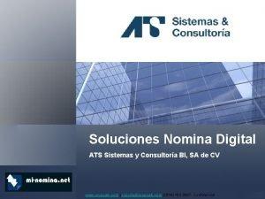 Soluciones Nomina Digital ATS Sistemas y Consultora BI