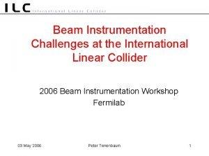 Beam Instrumentation Challenges at the International Linear Collider