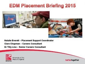 EDM Placement Briefing 2015 Natalie Everett Placement Support