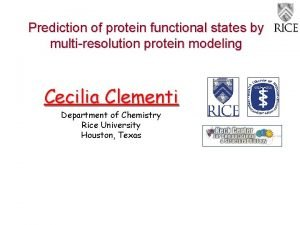 Prediction of protein functional states by multiresolution protein