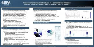 Nanomaterial Consumer Products in a Consolidated Database Beach