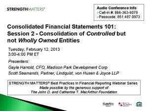 Audio Conference Info Callin 866 363 6079 Passcode