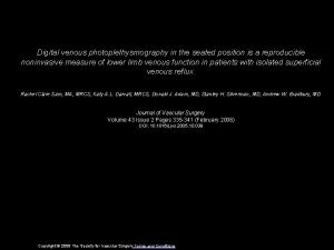 Digital venous photoplethysmography in the seated position is