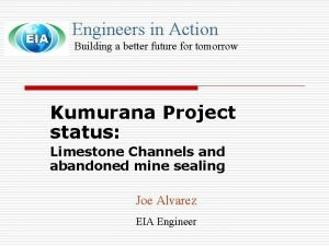 Engineers in Action Building a better future for