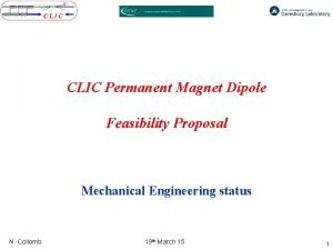 CLIC Permanent Magnet Dipole Feasibility Proposal Mechanical Engineering