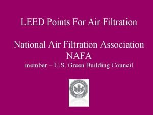 LEED Points For Air Filtration National Air Filtration