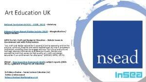 Art Education UK National Curriculum Art KS 1
