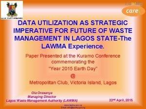 DATA UTILIZATION AS STRATEGIC IMPERATIVE FOR FUTURE OF