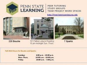 http Penn State Learning psu edu 220 Boucke