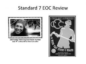 Standard 7 EOC Review 1 Why were Sacco