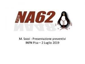 M Sozzi Presentazione preventivi INFN Pisa 2 Luglio