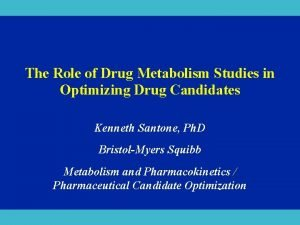 The Role of Drug Metabolism Studies in Optimizing