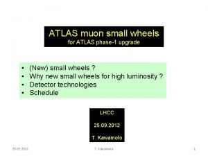 ATLAS muon small wheels for ATLAS phase1 upgrade