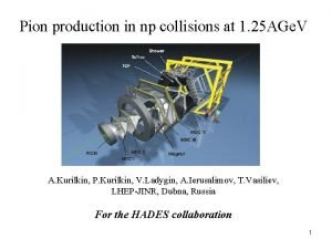 Pion production in np collisions at 1 25