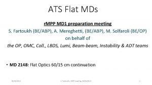 ATS Flat MDs r MPP MD 1 preparation