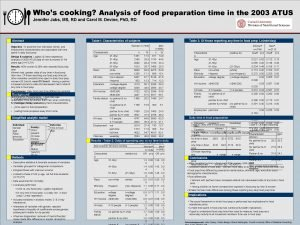 Whos cooking Analysis of food preparation time in