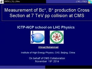 Measurement of Bc B production Cross Section at