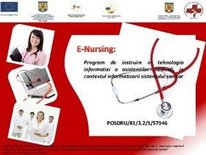 ENursing Program de instruire in tehnologia informatiei a