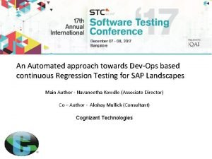 An Automated approach towards DevOps based continuous Regression