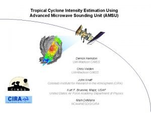 Tropical Cyclone Intensity Estimation Using Advanced Microwave Sounding