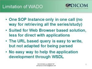 Limitation of WADO One SOP Instance only in