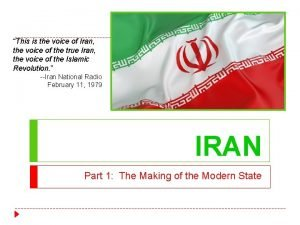 This is the voice of Iran the voice