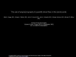 The use of angiodynography to quantify blood flow
