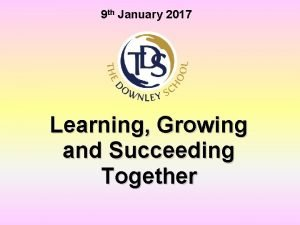 9 th January 2017 Learning Growing and Succeeding